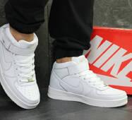 Кроссовки мужские белые высокие Nike Air Force 6376