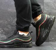Мужские зимние кроссовки черные с красным Nike 97 6754