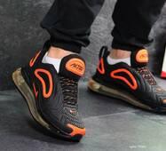 Мужские кроссовки черные с оранжевым Nike Air Max 720 7046