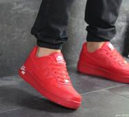 Мужские кроссовки красные Nike Air Force 1 8095