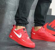 Мужские кроссовки красные Nike Air Force 1 8188