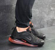 Мужские кроссовки черные с оранжевым Nike Air Max 720 7621