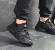 Мужские кроссовки черные Nike Huarache Fragment Design 7889