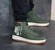 Мужские кроссовки темно зеленые Nike Air Force 1 8447