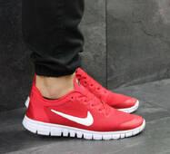 Мужские кроссовки красные Nike Free Run 3.0 8064