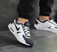 Мужские кроссовки темно синие с белым и красным Nike Zero 7381