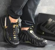 Мужские кроссовки черные с золотом Nike Air Foamposite Pro 8137