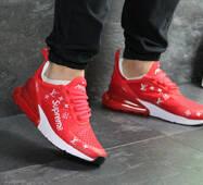 Мужские кроссовки красные Nike Air Max 270 x Supreme 7456