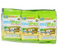 SeaSnax, Grab & Go, Wasabi, Roasted Seaweed Snack, 6 - pack (.18 oz each)