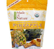 Ананаси сушені, Pineapple, Dried & Unsulfured, Made in Nature, 213 г