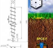 Винтовая свая горячеоцинкованная SPGS-F 60x3x2,0 (650) с фланцем 6 мм