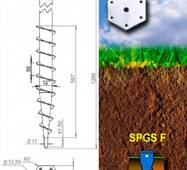 Винтовая свая горячеоцинкованная SPGS-F 76x3x2,0 (650) с фланцем 6 мм
