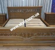 Ліжко  Едельвейс з тумбами з масиву дуба