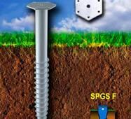 Винтовая свая горячеоцинкованная SPGS - F 89 x 1200 x 3