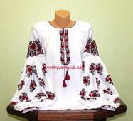 Жіноча сорочка вишита старовинним  узором. Черкащина. Ручна вишивка