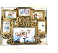 Фоторамка колаж на 6 фото Моя сім'я, бронза