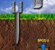 Винтовая свая серии SPGS - U 102 x 2000 x 3,5