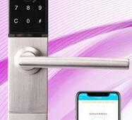 Замок вузькопрофільний електронний 3023 - B з Bluetooth доступом, по картці і відбитку пальця