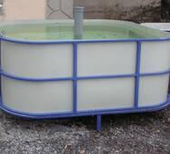 Бассейн для рыборазведения объёмом 3,6 м3, полипропилен