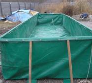 Бассейн для рыборазведения объёмом 20 м3 ПВХ, каркасный, разборной