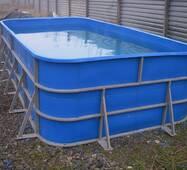 Бассейн для рыборазведения объёмом 6 м3, полипропилен