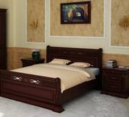 Ліжко Кармен з масиву дуба