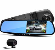 Відеореєстратор дзеркало з камерою заднього виду 2 камери DVR Full HD