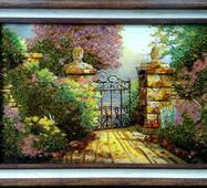 """Картина из янтаря """"Ворота"""" 40х60 см"""