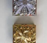 Шкатулка срібло,золото