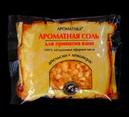 Соль черного моря для ванн Ароматика Лемонграсс-Апельсин, Вес 100 г.