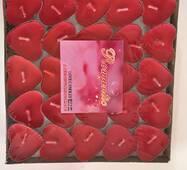 Плавающие свечки-сердца(50 шт. в уп.)
