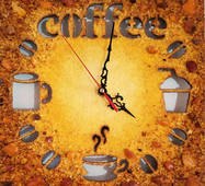 Часы из янтаря 30х30 см
