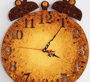 Часы из янтаря 30х40 см