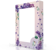 Коробка картонная с цветами (50-1), 380х285х50 мм Syringa