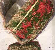 Подарункові коробки з натуральних трав у вигляді серця і мішковини(3 шт.)