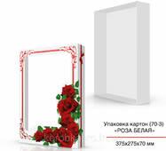 Картонная коробка с цветами 375х275х70 мм