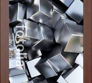 3D двери Серебристые кубики 9257, 80х200 см