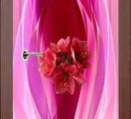 3D двери Букет на розовом 9234, 60х200 см