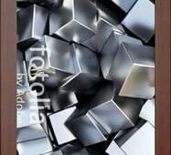 3D двери Серебристые кубики 9257, 70х200 см