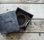 Кожаный ремень коричневый, 125 см