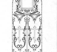 Дверь входная церковь