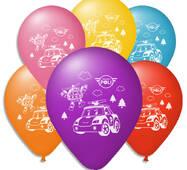 """Повітряні кульки пастель  шовкографія Робокар Поли 10"""" (25 см)"""
