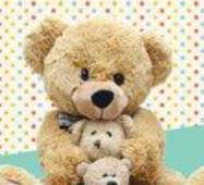 """Пакет для подарунка гігант вертикальний """"Три ведмеді"""" 30х47 см   (6 шт/уп)"""