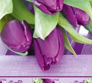 """Пакет для подарунка гігант вертикальний """"Тюльпани"""" 30х47 см   (6 шт/уп)"""
