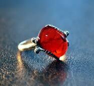 """Кольцо из янтаря """"Ажурный"""""""