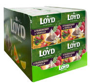 Чай в пакетиках пирамидках LOYD, клубника и ваниль, 2г*20шт, 20уп