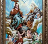 "Икона из янтаря ""Троица"" 30х40 см без стекла"