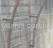 Широкий полотенцесушитель Wave 7/ 500 мм в форме морской волны для ванной комнаты. н/ж сталь. 1/2. Украина