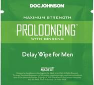 Пролонгуюча серветка Doc Johnson Delay Wipe For Men з екстрактом женьшеню