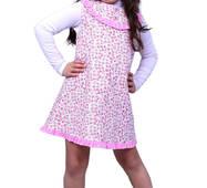 """Сарафан детский для девочки М -1025-1 рост 104 110 116 122 и 128 вельвет х/б тм """"Попелюшка"""" 110"""